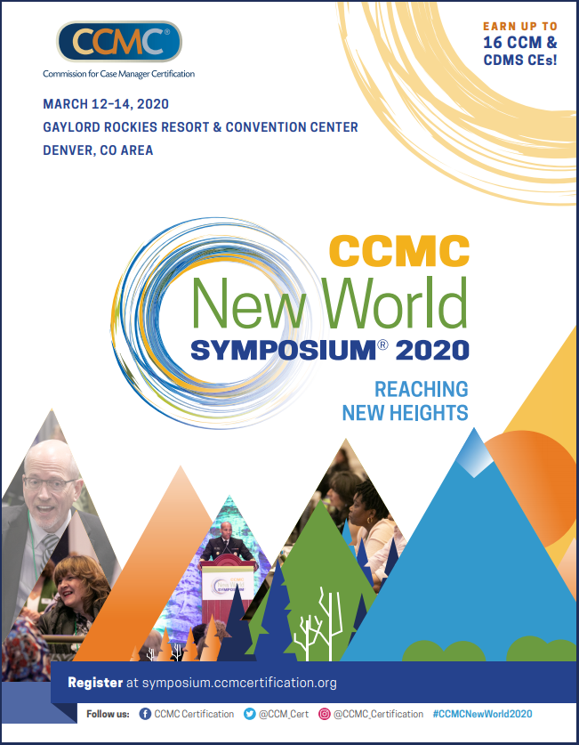 CCMC's New World Symposium 2020 Registration Brochure Cover Page
